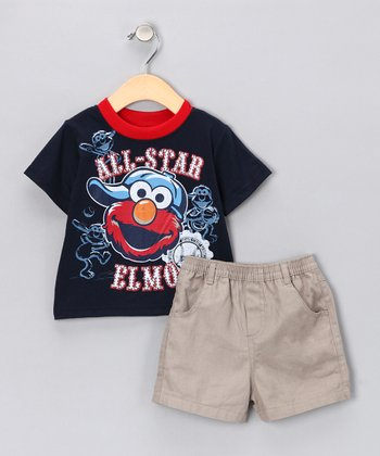 Peacoat 'All-Star' Tee & Shorts - Infant