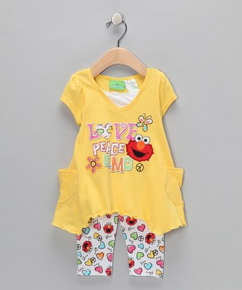 Lemongrass Elmo Sidetail Tunic & Leggings - Infant