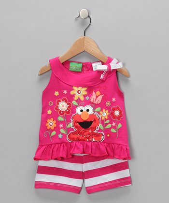 Rosy Ring Elmo Ruffle Tank & Shorts - Infant