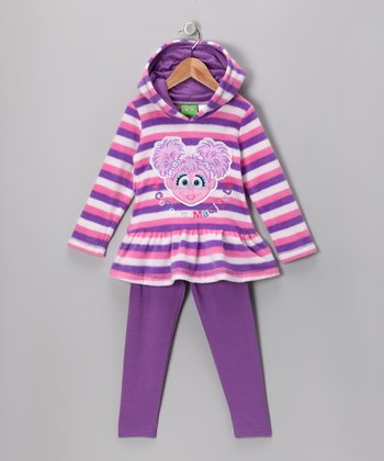 Purple Stripe Abby Cadabby Hoodie & Leggings - Infant & Toddler