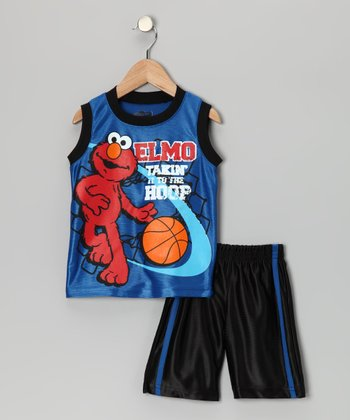 Blue 'Elmo' Basketball Tank & Shorts - Infant