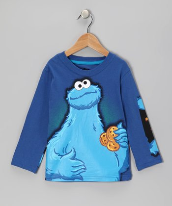 Blue Cookie Monster Tee - Toddler