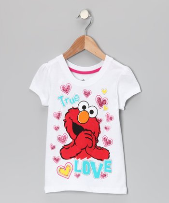 White Elmo 'Love' Tee - Toddler