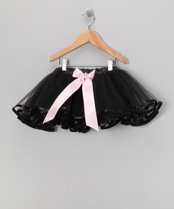 Black & Pink Bow Tutu - Girls