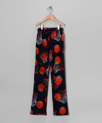Black & Red Basketball Hoop Pajama Pants