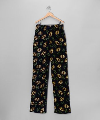 Black Eat Sleep Football Pajama Pants