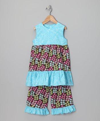 Baby Blue Leaf Top & Capri Pants - Infant, Toddler & Girls