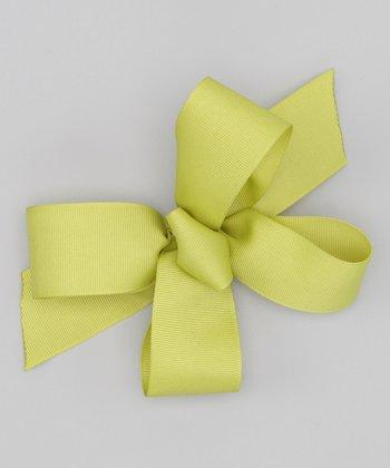 Pistachio Bow Clip