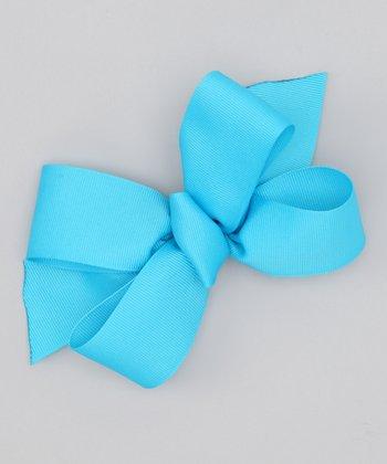 Dark Turquoise Bow Clip