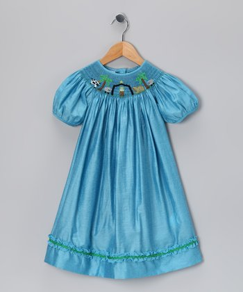 Blue Nativity Bishop Dress - Infant, Toddler & Girls