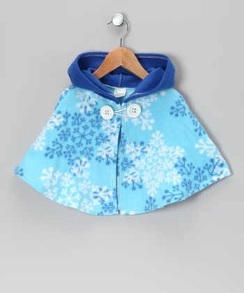 Blue Snowflake Hooded Cape - Infant & Toddler