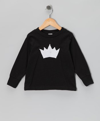 Black Princess Crown Tee - Toddler & Girls