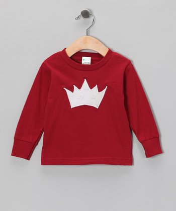 Burgundy Princess Crown Tee - Toddler & Girls