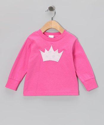 Fuchsia Princess Crown Tee - Toddler & Girls