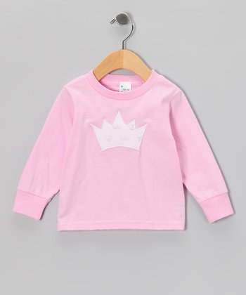 Light Pink Princess Crown Tee - Toddler & Girls