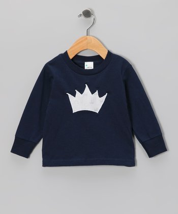 Navy Princess Crown Tee - Toddler & Girls
