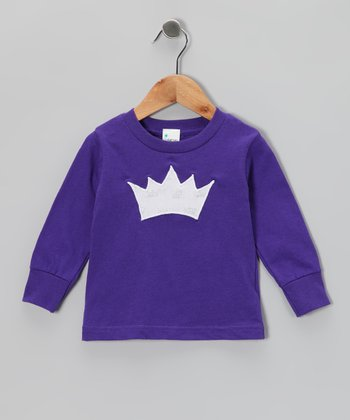 Purple Princess Crown Tee - Toddler & Girls