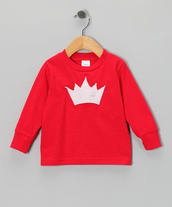 Red Princess Crown Tee - Toddler & Girls