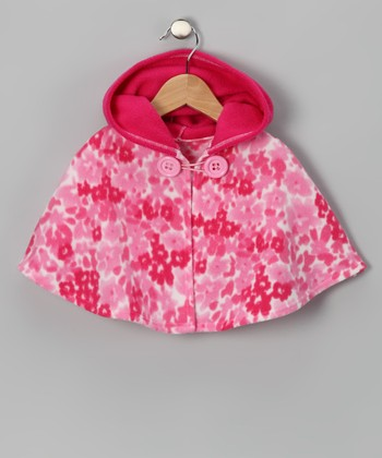 Fuchsia Flower Poncho - Infant, Toddler & Girls