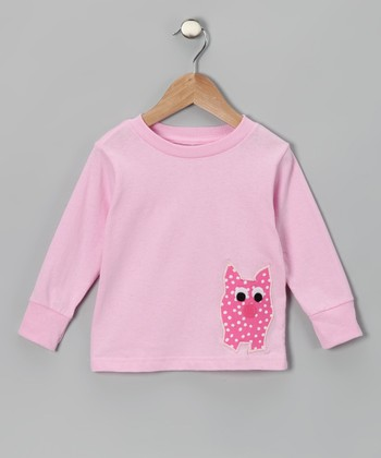 Light Pink Pig Tee - Toddler & Girls