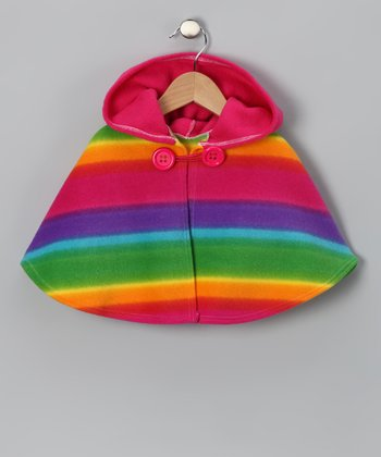 Rainbow Stripe Poncho - Infant, Toddler & Girls