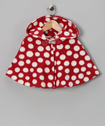 Red Polka Dot Poncho - Infant, Toddler & Girls