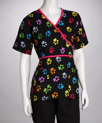 Black Paws Scrub Top - Women & Plus