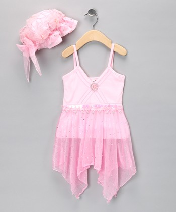 Pink Flapper Tunic & Hat - Toddler & Girls