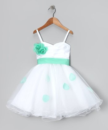 Green Petal Flower Dress - Toddler