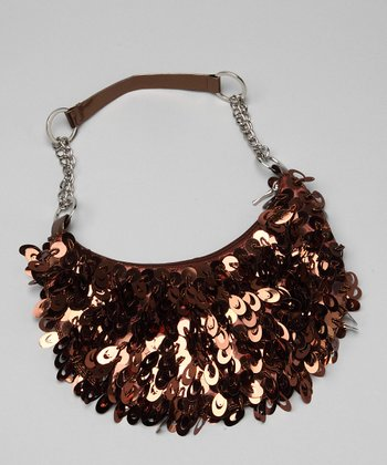 Brown Sequin Purse