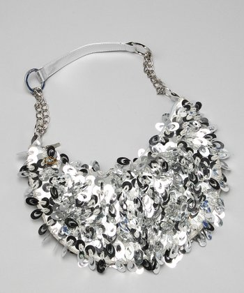 Silver Sequin Purse