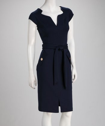 Ink Tie-Waist Dress