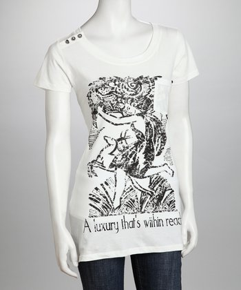 White 'A Luxury That's Within Reach' Organic Tee