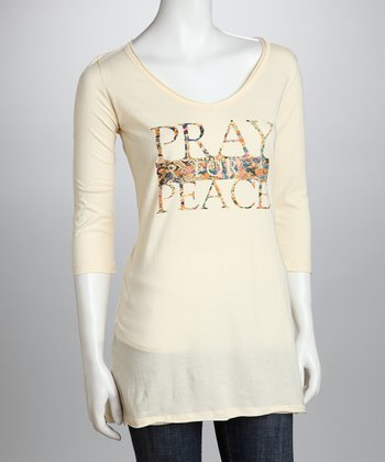 Cream 'Pray For Peace' Organic  Top