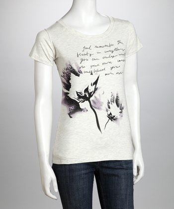 Gray Dahlia Remember Organic Tee - Women