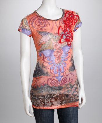 Orange Organic Tissue Tee - Women
