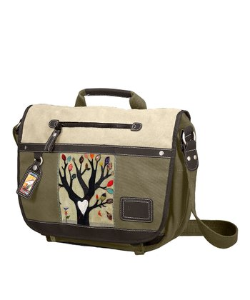 Falling Tree Eden Messenger Bag