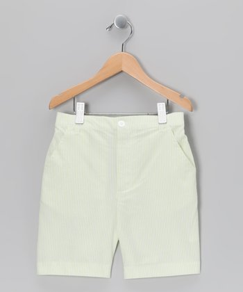 Green Seersucker Shorts - Infant, Toddler & Boys