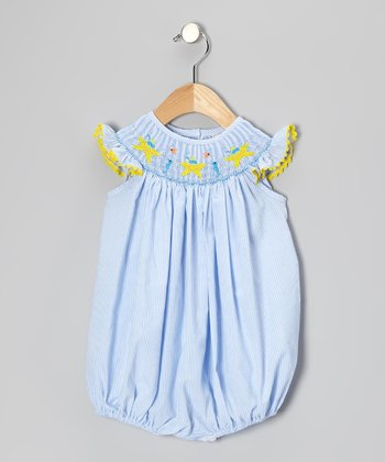 Blue Starfish Bubble Bodysuit - Infant