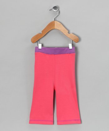 Shinobi Baby Pink & Purple Organic Pants - Infant