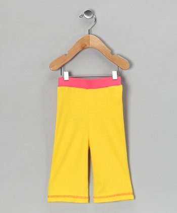 Shinobi Baby Yellow & Pink Organic Pants - Infant