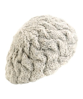 Natural Rhiannon Wool-Blend Beret