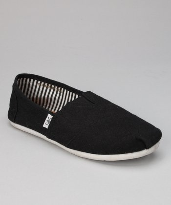 Black & White Canvas Slip-On Shoe