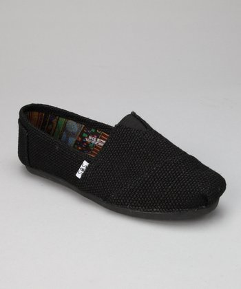 Black Flax Slip-On Shoe