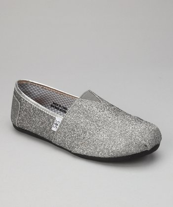 Dark Gray Glitter Slip-On Shoe