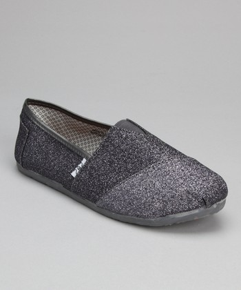 Pewter Glitter Slip-On Shoe