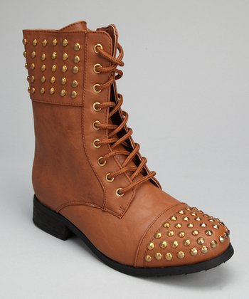Tan Studded Boot