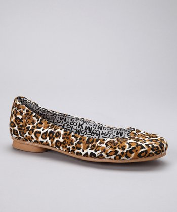 Brown Leopard Ballet Flat