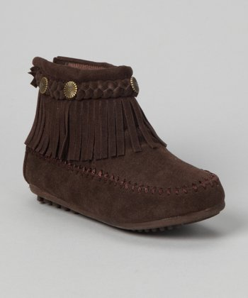 Brown Fringe Ankle Boot