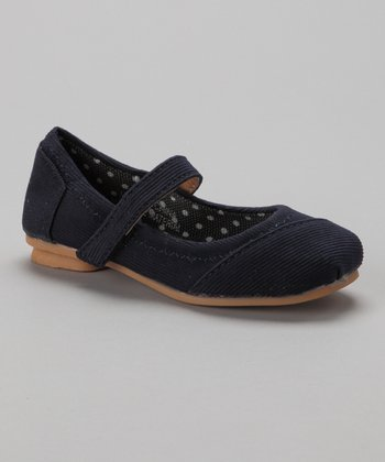 Navy Corduroy Mary Jane